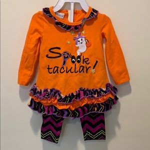 Halloween shirt and leggings, size 3-6 months